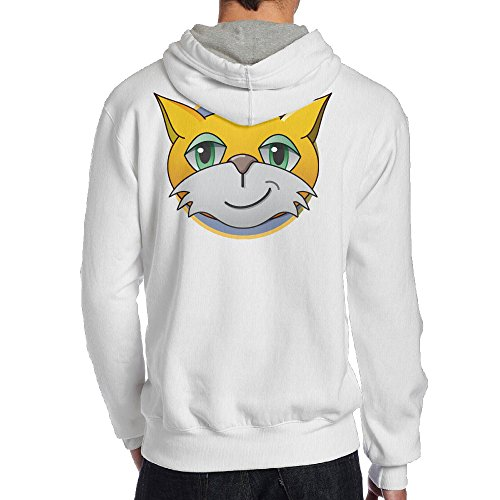Show Time Men's Game Stamp Cat New Style Hood White M