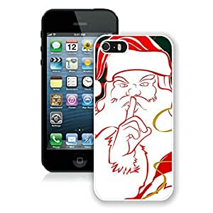 Custom Design Iphone 5S Protective Cover Case Santa Claus iPhone 5 5S TPU Case 11 White