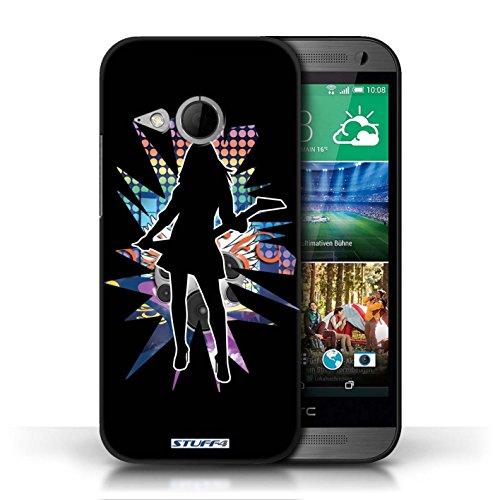 Etui / Coque pour HTC One/1 Mini 2 / Rock Dame Noir conception / Collection de Rock Star Pose