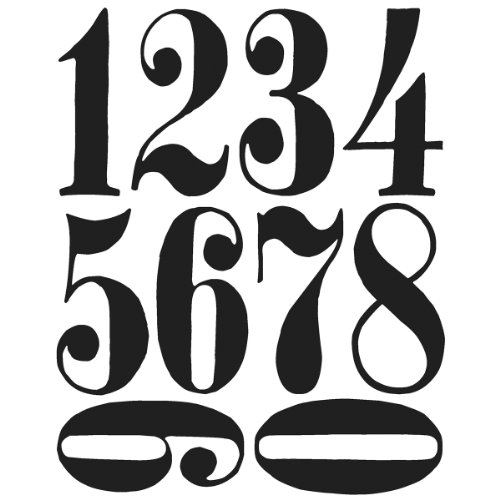 (Stampers Anonymous Tim Holtz Cling Rubber Stamp Set, 7 by 8.5-Inch, Numeric)