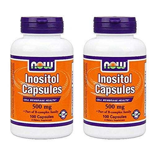Now Foods Inositol 500 Milligrams 100 Capsules (2 Pack)