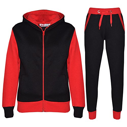 Kids Tracksuit Girls Boys Fleece Hooded Hoodie Bottom Jogging Suit Jogger 7-13Yr