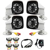 iSmart 4-pack HD 1200TVL 720P AHD Bullet Outdoor Camera 3.6mm Lens CCTV Security System C1100AH2