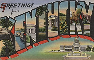 Greetings from Kentucky (Capital Building) (9x12 Collectible Art Print, Wall Decor Travel Poster)