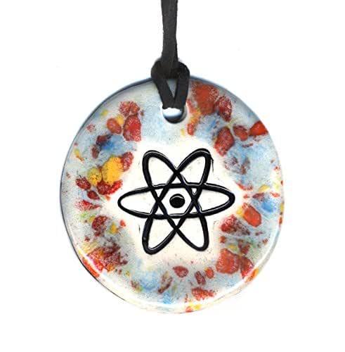Amazon Com Surly Ramics Atomic Symbol Ceramic Pendant