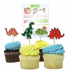 Amazon Bonitolife Assorted Dinosaur Cupcake Toppers