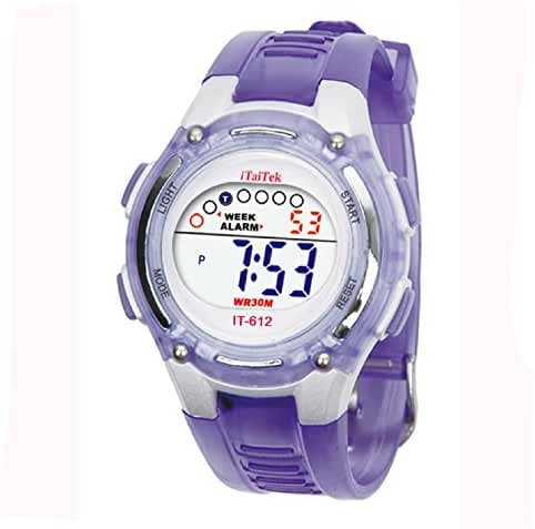 Sannysis unisex-child Swimming Sports Digital Watch Purple