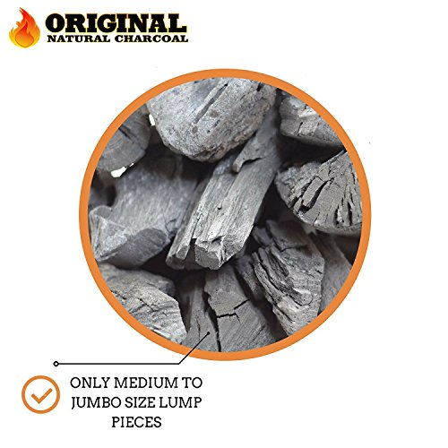 Original Natural Charcoal - 100% Natural Hardwood Lump Charcoals - Unique Blend of Apple, Cherry, and Oak Trees - No Smoke, No Sparks, and Low Ash (17.6lbs)