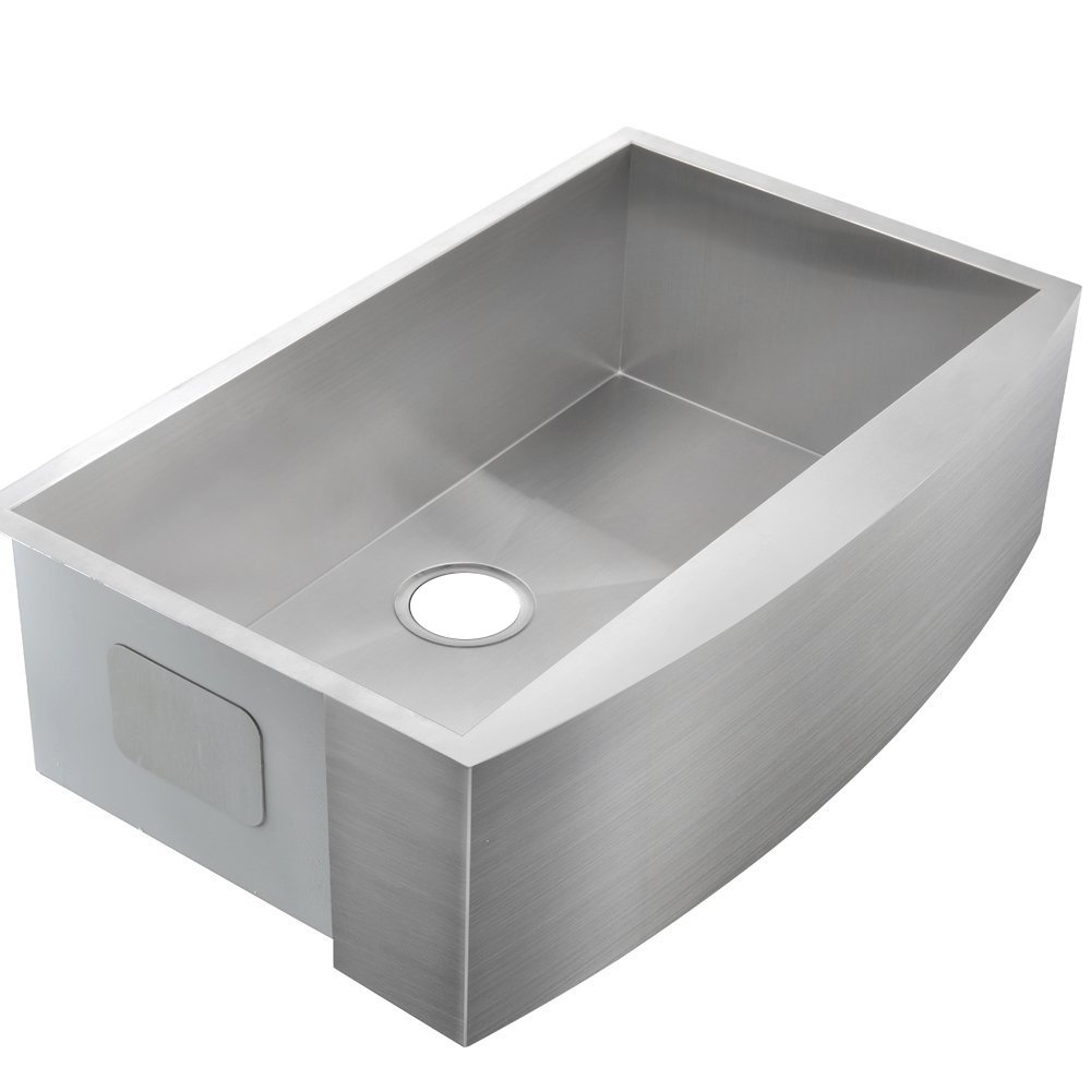 Comllen 33 Inch 304 Stainless Steel Farmhouse Kitchen Sink, Single Bowl 16 Gauge 10 Inch Deep Handmade Undermount Apron Kitchen Sink by Comllen (Image #7)