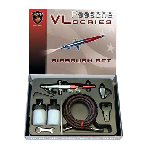 Kit de aerógrafo Paasche VL-202S con mango de aluminio an...