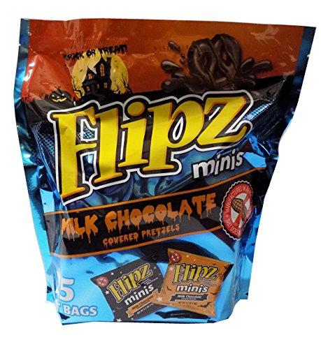 Flipz Minis Milk Chocolate Covered Pretzels - 25