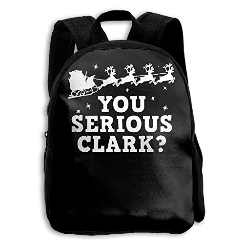 HFIUH5 You Serious Clark Novelty Christmas Movie Graphic Printing Backpack School Book Bag Boys Girls Daypack Travel Bag For Kids