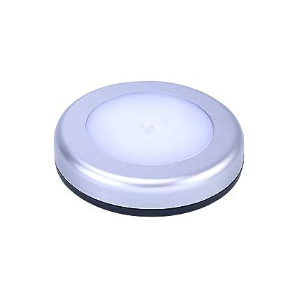 LEDMOMO 6 LED Inalámbrico PIR Sensor de Movimiento Automático Noche Luz Gabinete Escalera Interior lámpara (