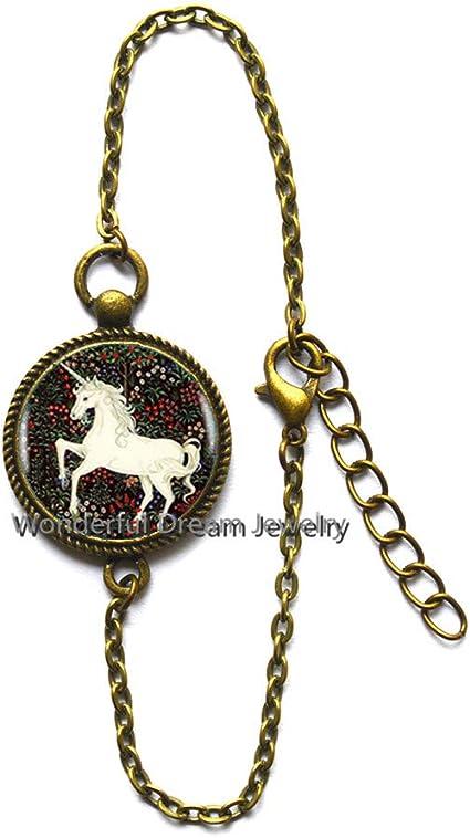 Waozshanga - Pulsera de Unicornio para Pintura, joyería de Cristal ...