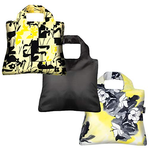 - Reusable Grocery Bags- Set of 3 Black Gold Envirosax Eco-Friendly, Shopping Tote