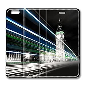iCustomonline Big Ben Night Lights Custom Flip Leather Case for iPhone 6 Plus(for 5.5 inch)