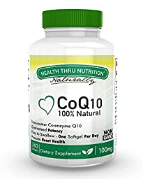 CoQ10 w/BioPerine 100mg 360 Softgels High Absorption, Non-GMO, Soy-Free, 100% Natural Coenzyme Q-10