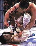 Royce Gracie & Dan Severn Signed 8x10 Photo 1994 UFC 4 Picture Autograph - PSA/DNA Certified - Autographed UFC Photos review