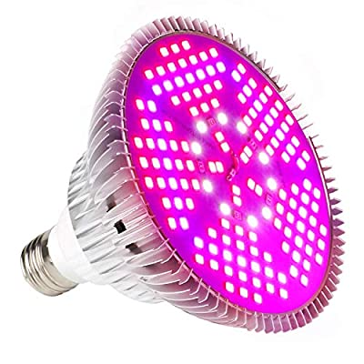 Led Grow Light Bulb, Led Plant Bulb Full Spectrum Grow Lights for Indoor Plants Vegetables and Seedlings, LED Plant Light Bulb for Hydroponics Indoor Garden Greenhouse and Organic Soil