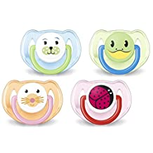 Philips Avent Orthodontic Pacifier, 6-18 Months, Animal Design SCF182/24 ( Colors and designs may vary)