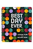 Renewing Minds Color Me Brilliant Lesson Plan & Record Book, ''Best Day Ever'', 9 x 12 Inches, Multi-Colored