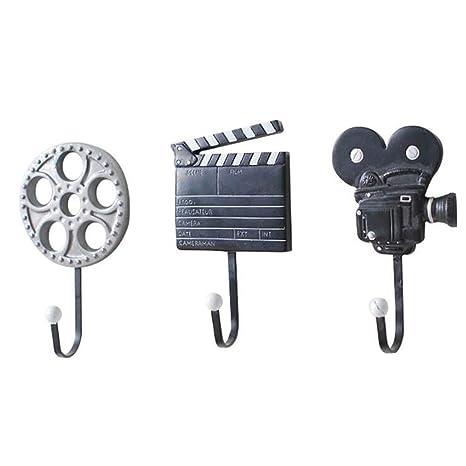 Ganchos de almacenamiento Juego de formas de películas de 3 ...