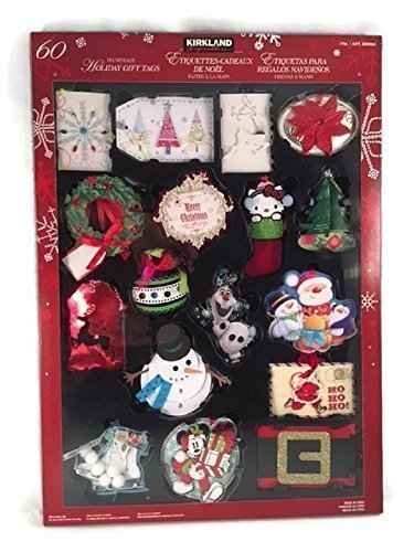 Christmas Handmade Gift - Holiday Gift Tags Christmas Handmade Hand Made Labels Set Festive Assortment