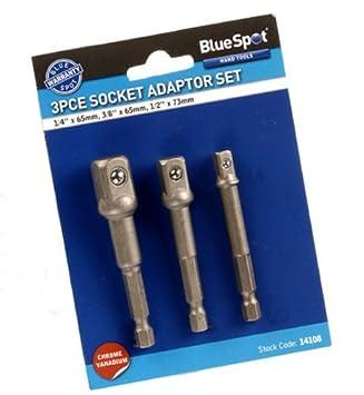 3xSocket Adaptor Set (3 Pieces) Blue Spot Tools
