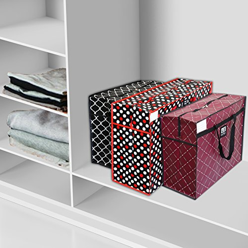 Le Sac Large Heavy Duty Zippered Organizer Storage Tote