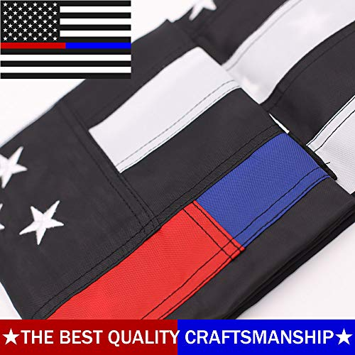 ATHX Thin Blue and Red Line Flags 3x5 ft. - Embroidered Stars - Sewn Stripes - Brass Grommets - 210D Heavyweight Oxford Nylon Built for Outdoor Use (3 by 5 Foot, Thin Bule and Red Line Police Flags) -