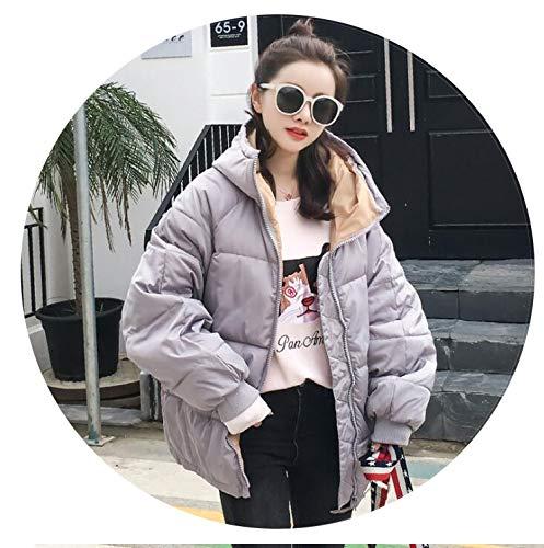 New Parkas Basic ETS Female Women Winter Plus Velvet Lamb Hooded Coats Cottons Outwear Coat,3,S