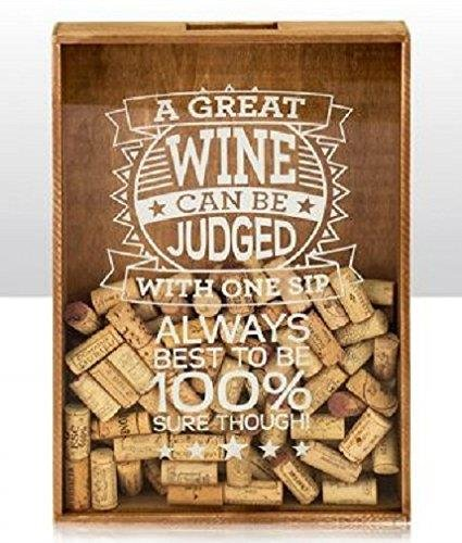 Wine/Beer Bottle Cork/Cap Collection Storage Box ~ Wooden ~ Wall Hanging ~ A GREAT WINE.. Elgate