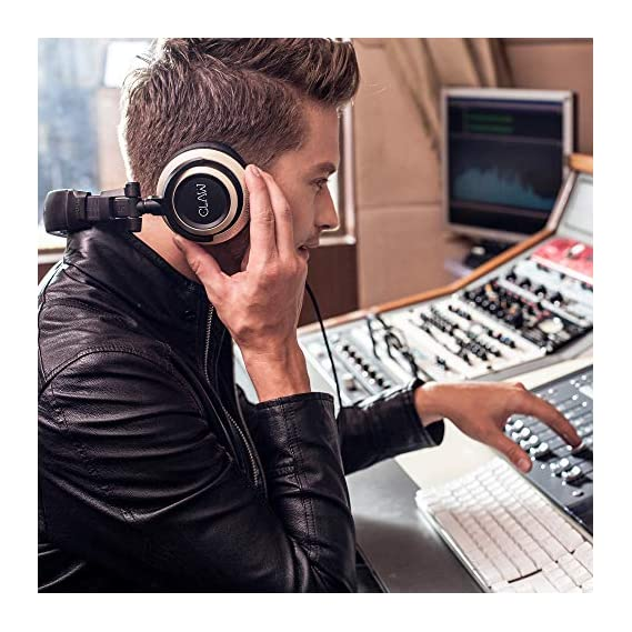 CLAW SM100 Professional Studio Monitor & DJ Headphones with 2 detachable cables (3m Coiled Cable & 1.2m Straight Cable
