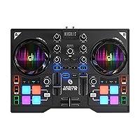 Hercules DJ Control Instinct P8 (2-Deck DJ Controller, 8 Performance-Pads, integr. Soundkarte, DJUCED 40°, PC / Mac)