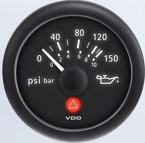 VDO A2C53413141-S Oil Pressure Gauge Vdo Oil Pressure Gauge