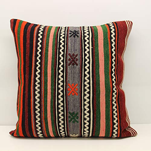 - Decorative kilim pillow 24x24 inch (60x60 cm) Huge Kilim pillow Home Design Rustic Pillow cover Ethnic Kilim Fireplace pillow King size pillow ground pillow Accent pillow