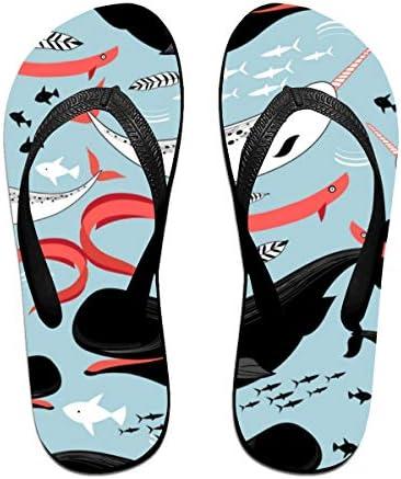 ビーチシューズ 海のクジラ 魚柄 ビーチサンダル 島ぞうり 夏 サンダル ベランダ 痛くない 滑り止め カジュアル シンプル おしゃれ 柔らかい 軽量 人気 室内履き アウトドア 海 プール リゾート ユニセックス