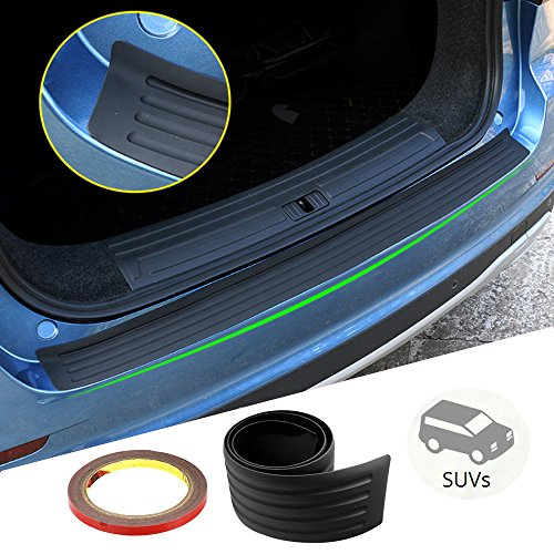 Rubber Rear Bumper Guard Protector – SEAMETAL 41″ Car Sticker Protector Kit for Most SUV Hatchback,Light Weight,Flexible and Bendable Door Bumper,Prevent Scratches While Unloading and Loading