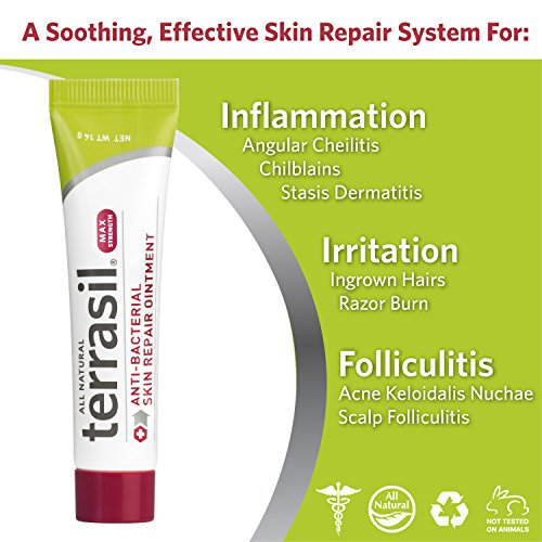 Antibacterial Skin Repair MAX 3X Faster Dr. Recommended 100% Guaranteed All Natural Fissures Folliculitis Angular Cheilitis Impetigo Chilblains Lichen Sclerosus Boils Cellulitis by Terrasil® by Aidance Skincare & Topical Solutions (Image #1)