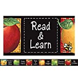 TEACHER CREATED RESOURCES SW COLORFUL APPLES STRAIGHT BORDER (Set of 12)