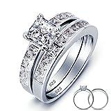 Beydodo Silver Rings Women 1.25ct Promise Rings