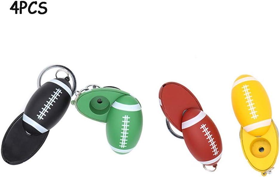 QINJLI 4 trozo de Tubo de Rugby, portátil Desmontable Llavero Mini-Tubo, Tubo de Viajes