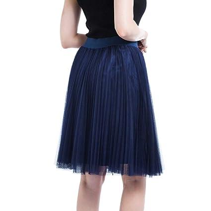 Colmkley Womens Polka Dots Midi Skater Skirt Casual Pleated Flared A-line Skirt