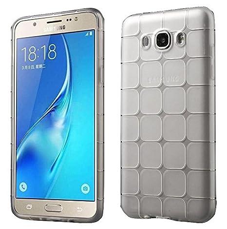 TPU/Rubber Icecube Design Transparent Back Cover for Samsung Galaxy J5  2015    Transparent