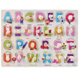 NEEDRA Puzzle Jigsaw,Alphabet Letters Words Cute Wooden Puzzle Educational Developmental Baby Kids Training Toy