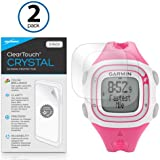 BoxWave Garmin Forerunner 10 Black/Red ClearTouch Crystal (2-Pack) Screen Protector - Ultra Crystal Film Skin to Shield Against Scratches for Garmin Forerunner 10 Black/Red