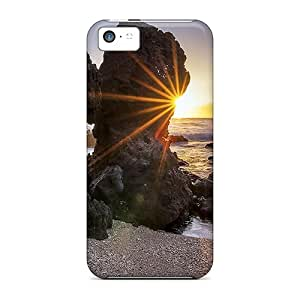 Iphone5c iphone 5c Unique mobile phone carrying skins Protective Beautiful Piece Of Nature Cases Durability Sunrays
