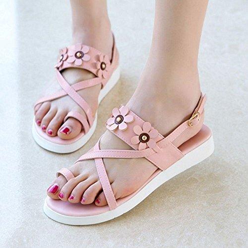 pink Sandales Femmes Slingback RAZAMAZA Chaussures nBwUTIxa8