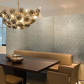 Panel decorativo autoadhesivo de lujo WallFace 17036 DECO FLEUR Decoración floral plateado marrón 2,60 m2: Amazon.es: Bricolaje y herramientas