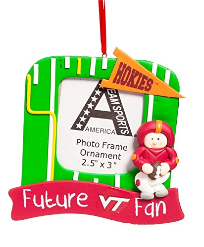 Photo Frame Orn, Field, Virginia Tech (Tech Square Virginia Logo)